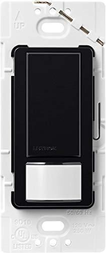 lutron Maestro Motion Sensor Switch  No Neutral Required  250 Watts  Single Pole  MS OPS2 Bl  Black