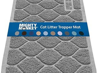 MIGHTY MONKEY Premium Cat litter Mat  Best Scatter Control for Cats  Jumbo Xl  Mats Easy to Clean  Rugs Soft on Kitty and Cat Paws