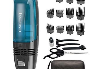 Remington Hc6550 Cordless Vacuum Haircut Kit  Vacuum Beard Trimmer  Hair Clippers for Men  18Piece
