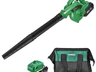 K I M O  Cordless leaf Blower 20V 4 0 Ah lithium Battery Powered lightweight  Compact 2 in 1 Sweeper   Vacuum for Clearing Dust  leaf   Snow  Car Vacuum  Patio Deck Garden Cleaning  Garage Dusting