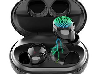Wireless Earbuds Bluetooth 5 0 Headphones  120H Playtime Deep Bass Stereo Sound Earbuds with Microphone  IPX8 Waterproof Headphones with Charging Case for Sports