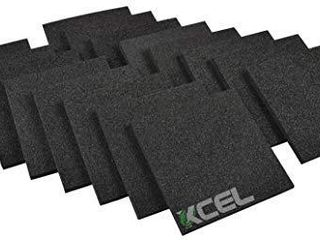 XCEl   Acoustic Insulation Studio Pads  Pack of 16  Size 6 Inch x 6 Inch x 1 2 Inch