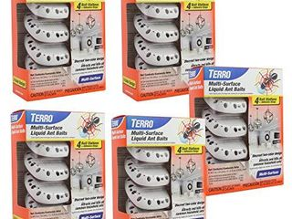 Terro T334 4 5 Pack Multi Surface liquid Ant 20 Discreet Bait Stations White
