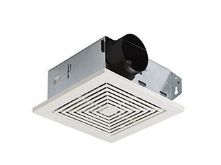 Broan NuTone 671 Ventilation Fan  White Square Ceiling or Wall Mount Exhaust Fan  6 0 Sones  70 CFM