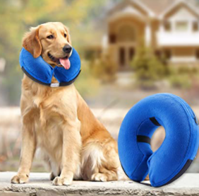 Benchmate extra large inflatable collars for injuries rashes post surgery washable scratch and bite resistant will not Mark or scrape furniture
