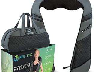 Resteck Shiatsy Neck and Back Massager Therapy Pliiow with Heat to relieve SORE muscles
