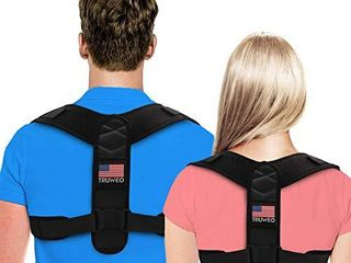 Posture Corrector For Men And Women   Adjustable Upper Back Brace For Clavicle To Support Neck  Back and Shoulder  Universal Fit  U S  Design Patent