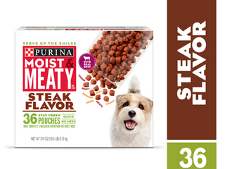 Moist   Meaty Steak Dog Food  216 Ounce