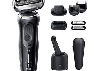 Braun Electric Razor for Men  Series 7 7085cc 360 Flex Head Electric Shaver with Beard Trimmer  Rechargeable  Wet   Dry  4in1 SmartCare Center and Travel Case