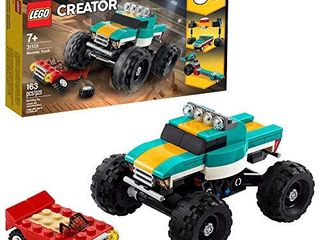 lEGO Creator 3in1 Monster Truck Toy 31101 Cool Building Kit for Kids  New 2020  163 Pieces