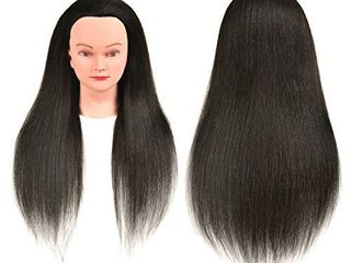 FUTAI 30  100  Natural Real Human Hair Mannequin Head Hairdresser Hairstylist Training Practice Female Professional Dyeing Styling Braiding Curling Coiling Display Cosmetology