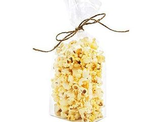 ClearBags Clear Flat Bottomed Treat Bags w Paper Insert   100 Quantity   Size  3 1 2 x 2 1 4 x 9 3 4   Best Gusset Bag for Presenting Packaged Treats  Candy  Popcorn   Food Safe Material   FGPB15i