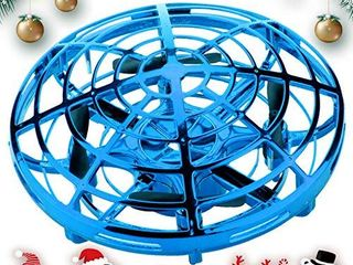 SHWD UFO Drones for Kids  Hand Operated Mini Drone Child Kids Drone with led lights  levitation Flying Ball Drone Toy 360 Rotating Helicopter for Boys Girls Adult Gift Indoor Outdoor