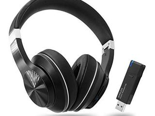 Giveet Wireless Gaming Headset Set w USB Audio Dongle for PS4 PC  Bluetooth HI FI Stereo Headphones w Noise Canceling Mic for laptop Nintendo Switch  Plug n Play  Fast Connection  No Audio Delay
