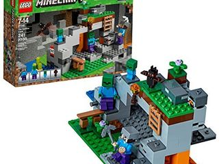 lEGO Minecraft The Zombie Cave 21141 Building Kit with Popular Minecraft Characters Steve and Zombie Figure  separate TNT Toy  Coal and more for Creative Play  241 Pieces