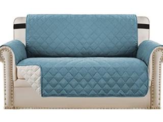 H  Versailtex Reversible love Seat Cover Blue