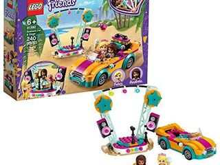 lEGO Friends Andrea s Car   Stage Playset 41390 Building Kit  Includes a Toy Car and a Toy Bird  New 2020  240 Pieces