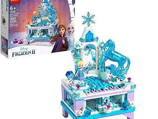 lEGO Disney Frozen II Elsa s Jewelry Box Creation 41168 Disney Jewelry Box Building Kit with Elsa Mini Doll and Nokk figure for Creative Play  300 Pieces
