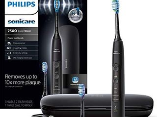 Philips Sonicare HX9690 05 ExpertClean 7500 Bluetooth Rechargeable Electric Toothbrush  Black