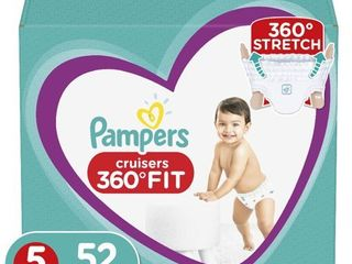 Pampers Cruisers 360 Disposable Diapers Super Pack   Size 5  52ct