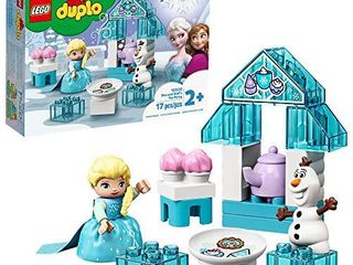 lEGO DUPlO Disney Frozen Toy Featuring Elsa and Olaf s Tea Party 10920 Disney Frozen Gift for Kids and Toddlers  New 2020  17 Pieces