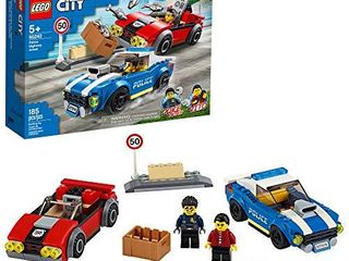 lEGO City Police Highway Arrest 60242 Police Toy  Fun Building Set for Kids  New 2020  185 Pieces