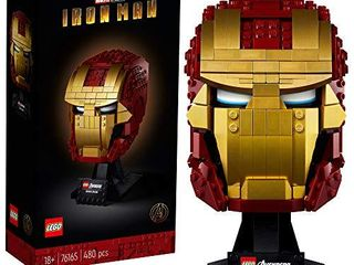 lEGO Marvel Avengers Iron Man Helmet 76165  Brick Iron Man Mask for Adults to Build and Display  Creative Challenge for Marvel Fans  New 2020  480 Pieces