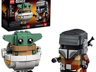 lEGO BrickHeadz Star Wars The Mandalorian   The Child 75317 Building Kit  Toy for Kids and Any Star Wars Fan Featuring Buildable The Mandalorian and The Child Figures  New 2020  295 Pieces