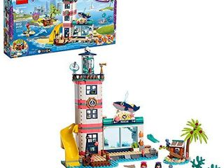 lEGO Friends lighthouse Rescue Center 41380 Building Kit with lighthouse Model and Tropical Island includes Mini Dolls and Toy Animals for Pretend Play  602 Pieces