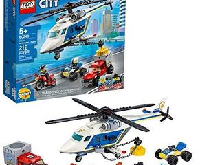 lEGO City Police Helicopter Chase 60243 Police Playset  lEGO Building Sets for Kids  New 2020  212 Pieces