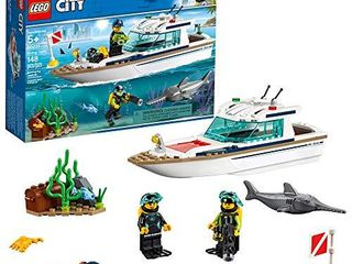 lEGO City Great Vehicles Diving Yacht 60221 Building Kit  148 Pieces