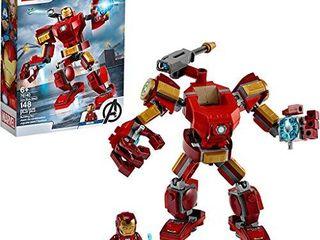 lEGO Marvel Avengers Iron Man Mech 76140 Kids Superhero Mech Figure  Building Toy with Iron Man Mech and Minifigure  New 2020  148 Pieces