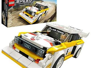 lEGO Speed Champions 1985 Audi Sport Quattro S1 76897 Toy Cars for Kids Building Kit Featuring Driver Minifigure  New 2020  250 Pieces