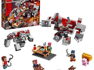 lEGO Minecraft The Redstone Battle 21163 Cool Minecraft Set for Kids Aged 8 and Up  Great Birthday Gift for Minecraft Players and Fans of Monsters  Dungeons and Battle Action  New 2020  504 Pieces