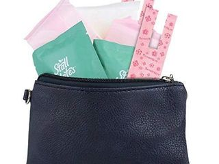 9 Piece Menstruation Pack Girls First Period Kit for On The Go   Menstrual Pads  Wipes  liners Bags