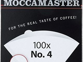 Technivorm Moccamaster  4 White Paper Filters  100 count per box