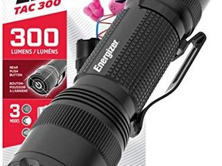 Energizer lED Tactical Flashlight  IPX4 Water Resistant  Super Bright  Heavy Duty Metal Body  Built for Camping  Outdoors  Emergency  Batteries Included