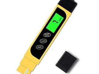 Yellow Digital TDS Meter   Hofun TDS  EC   Temperature Meter 3 in 1  0 9999 ppm Accurate  lCD Display  PPM Meter for Drinking Water Test  Coffee  Swimming Pool  Aquarium  RO DI System  Hydroponics