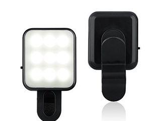 CHSMONB Mini lED Selfie light  Rechargeable 2 Adjustable Brightness Camera Fill light for Tiktok  Makeup  Photos  Videos  Going live   Vlogs  Black
