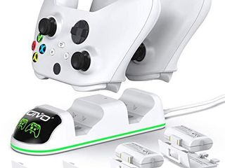 OIVO Controller Charger Replacement for Xbox Series   One S X Controller OIVO Controller Charger Docking Station with 2 Packs 1300mAh Rechargeable Battery 4 Covers Included
