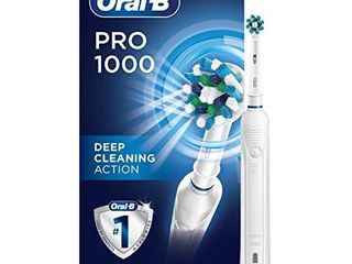 Oral B 1000 CrossAction Electric Toothbrush  White  Powered by Braun