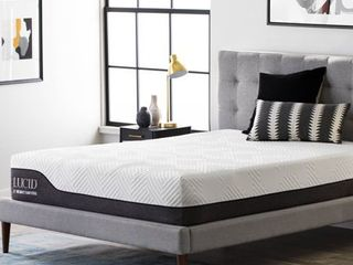 lucid 12 in  Bamboo Charcoal and Aloe Vera Hybrid Mattress