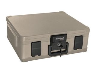 Fire Proof Safe  Security Safe  Securities Safe  SureSeal By FireKing Fire and Waterproof Chest  0 38 ft3  19 9 10w x 17d x 7 3 10h  Taupe