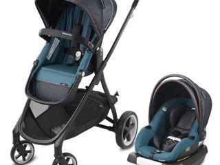 Evenflo Gold Shyft Smart Modular Travel System with SecureMax Infant Car Seat   Sapphire