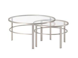 Gaia Nesting Table in Nickel