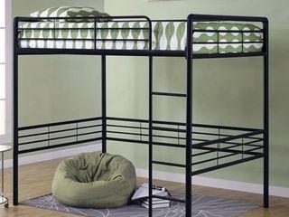 Kids Bed  Full Metal loft Bed   Black