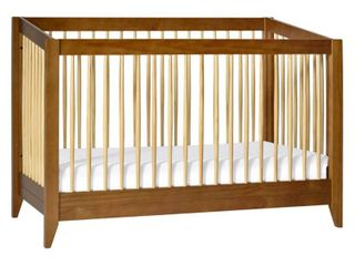 Babyletto Sprout 4 in 1 Convertible Crib with Toddler Bed Conversion Kit   Chestnut Natural