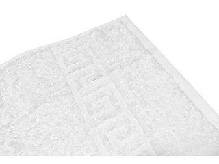 Solid White 5 Piece 100  Cotton Bath Towels Retail   37 79