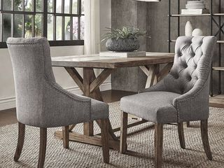 Benchwright II Velvet Button Tufted Wingback Hostess Chairs  Set of 2  by iNSPIRE Q Bold  Retail 371 49