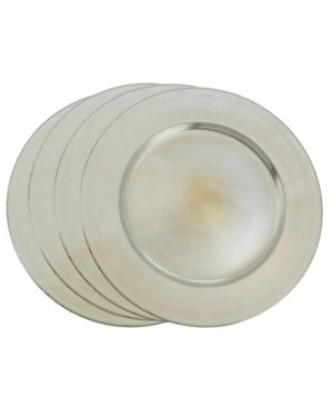 Charger Plates with Classic Design  Set of 4  Retail   25 08